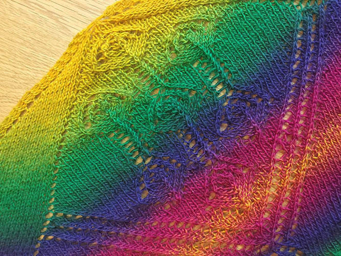 Makerist - Lace-Tuch: Caramelito - Strickprojekte - 2
