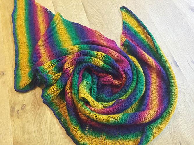 Makerist - Lace-Tuch: Caramelito - Strickprojekte - 3