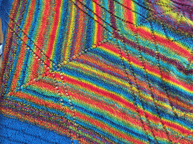 Makerist - Lace-Tuch: Traum in Bunt - Nähprojekte - 3