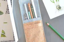 Makerist - ♥ Korkstoff: Stifte-Tasche ♥ - 1
