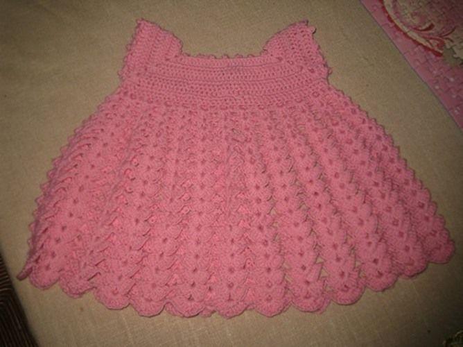 Makerist - robe  rose au crochet - Créations de crochet - 1