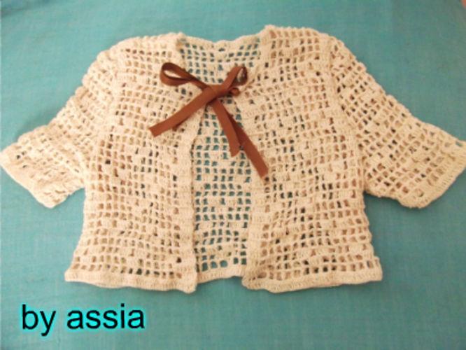 Makerist - Gilet - Cardigan Écru au crochet 3 - 4 ans - Créations de crochet - 1