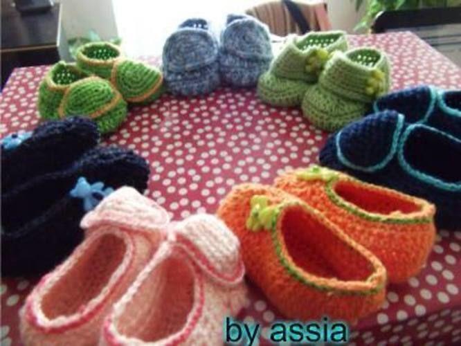 Makerist - Chaussures chaussons bébé au crochet en coton - Créations de crochet - 1