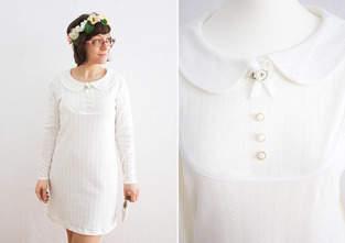 Brautkleid aus Ajour-Jersey