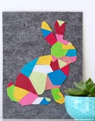 Makerist - Geometrischer Hase aus Filz - 1
