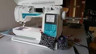 Nadelkissen und Minimüllerimer für die Nähmaschine
