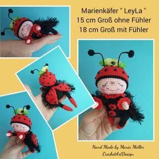 "Amigurumi Marienkäfer "" LeyLa "" 15 cm groß"