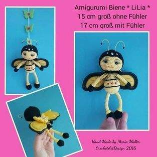 "Amigurumi Biene "" LiLia "" 15 cm groß"