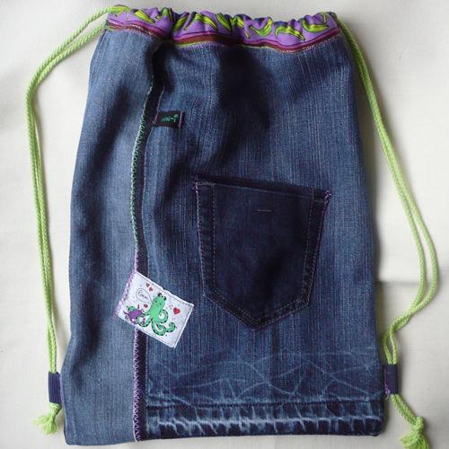 Makerist - Rucksack aus alten Jeans - Nähprojekte - 3