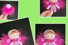 Makerist - Amigurumi Mini Engel Mädchen mit Federn 10 cm Groß - 1