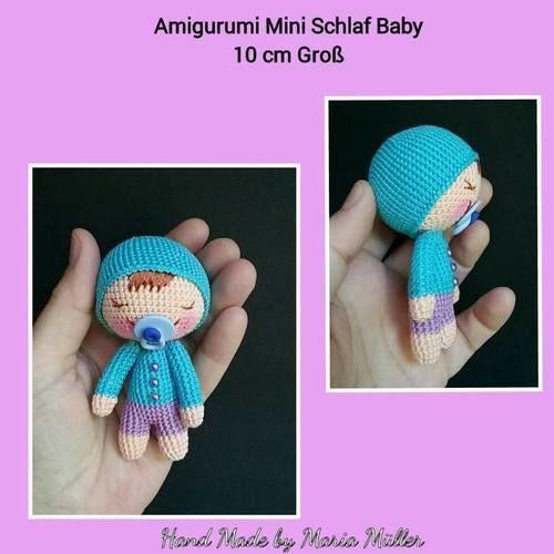 Makerist - Amigururmi Schlaf Baby 10 cm Groß - Häkelprojekte - 1
