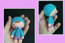 Makerist - Amigururmi Schlaf Baby 10 cm Groß - 1