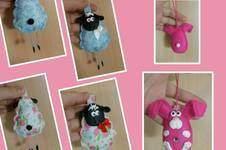 Makerist - Schaf und Hase aus Filz und Fimo - 1