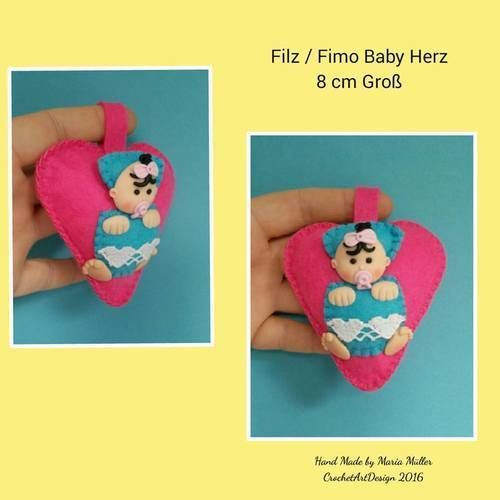 Makerist - Baby aus Filz und Fimo - Filzprojekte - 1