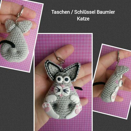 Makerist - Amigurumi Taschen / Schlüssel Anhänger Katze - Häkelprojekte - 1