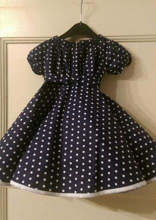 Petticoatkleid, Baumwollstoff. Für meine Enkeltochter