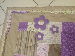 Patchwork-Tagesdecke