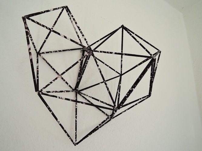 Makerist - GEOMETRISCHES__WandDeko aus Papier - DIY-Projekte - 1