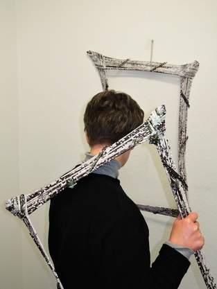Bilderrahmen aus Papierröllchen