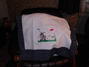 Kinderwagenkissen aus Baumwolle und Leinen