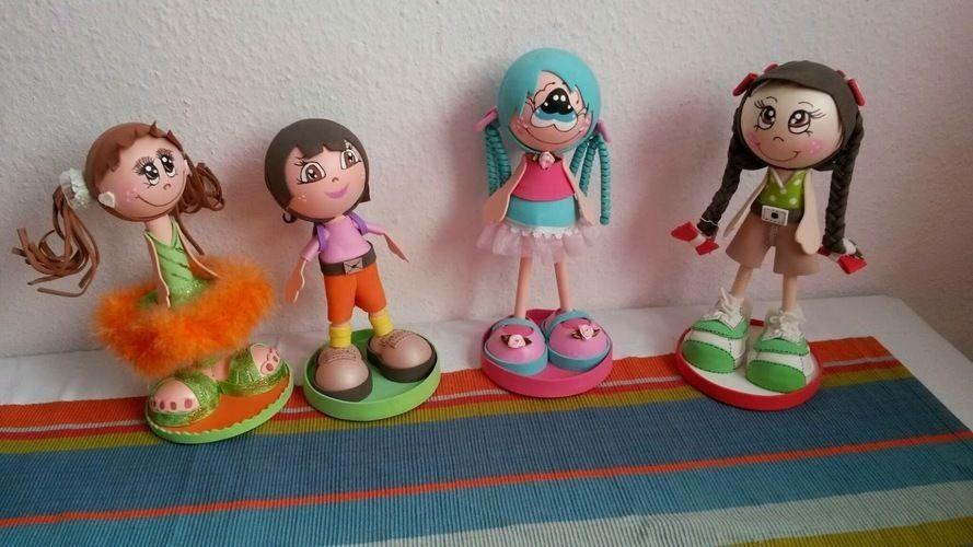 Makerist - Moosgummi Puppen - DIY-Projekte - 1