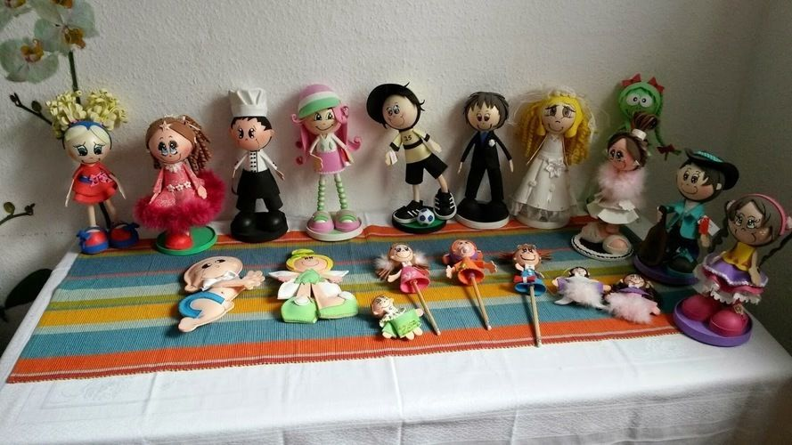 Makerist - Moosgummi Puppen - DIY-Projekte - 2