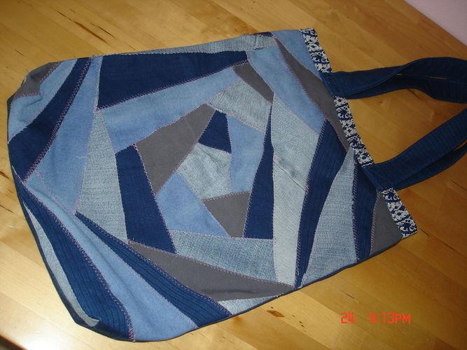 Makerist - Patchworktasche aus Jeansresten  - Patchwork-Projekte - 1