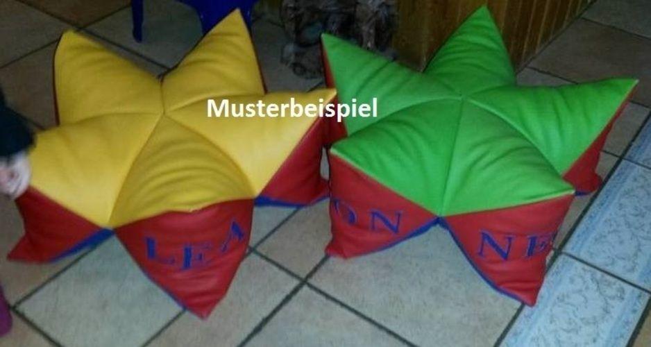Makerist - Sternenkissen aus Kunstleder als Sitzkissen  - Nähprojekte - 1