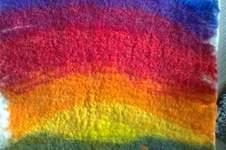 Makerist - Regenbogen-  gefilzter Wandteppich - 1