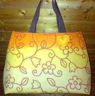 """Makerist - Shopper """"Orange Flower"""" - 1"""