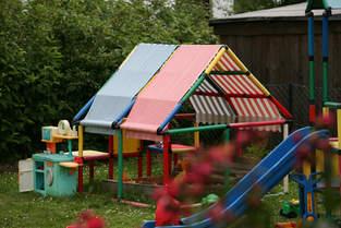 Dach für unseren Gartenspielplatz