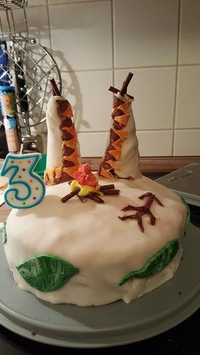 Makerist - Indianertorte zum 3.ten Geburtstag  - Torten, Cake Pops und Cupcakes - 1