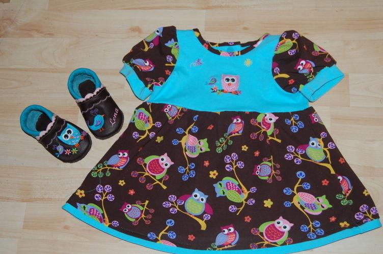 Makerist - Kleid gr. 80 und passende Lederpuschen - Nähprojekte - 1