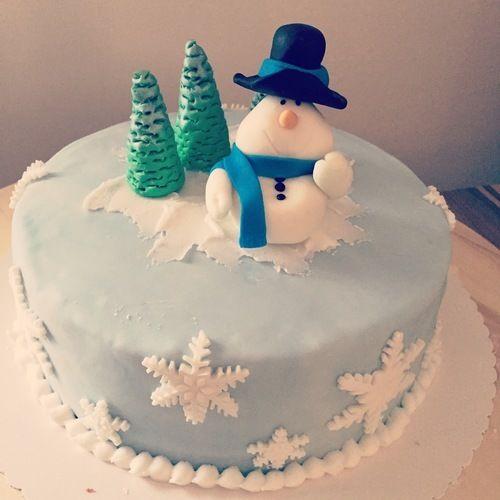 Makerist - Schneemann-Torte - Torten, Cake Pops und Cupcakes - 1